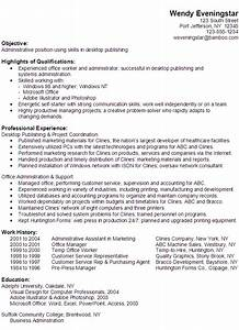 functional resume example administrative position With resume templates for administrative positions