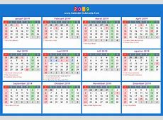 Kalender 2019 indonesia 2019 2018 Calendar Printable