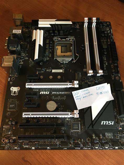msi zs sli krait edition motherboard  original box