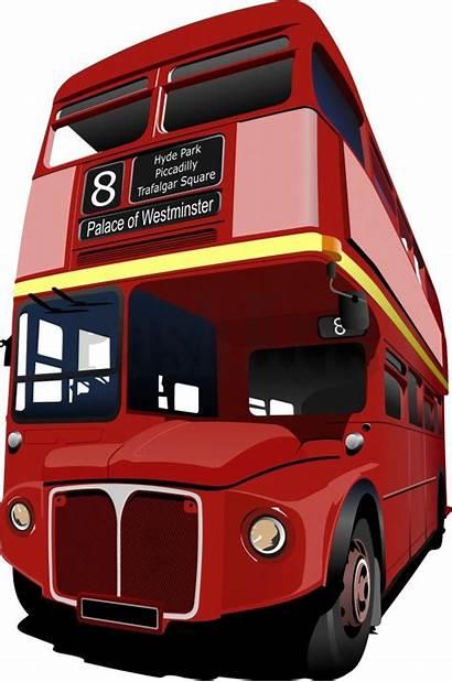 Bus Clipart London Decker Double Rouges Vec