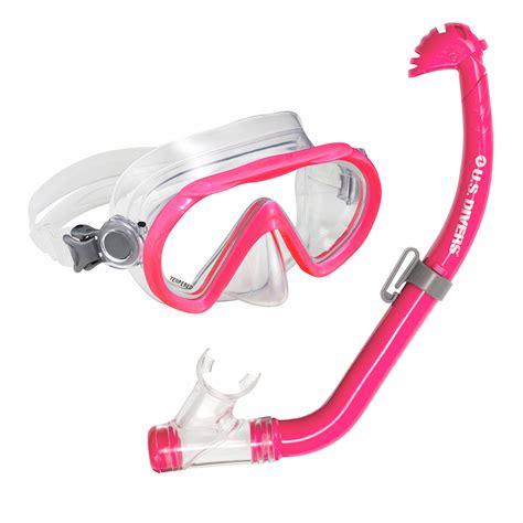 divers santa cruz jr maskeco jr snorkel pink