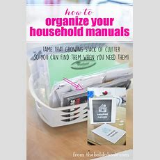 How To Organize Your Household Manuals