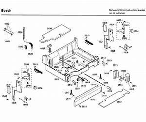 Bosch Model Shx46a05uc  33 Dishwasher Genuine Parts