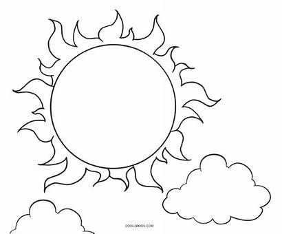 Sun Coloring Pages Printable Sunshine Outline Cool2bkids