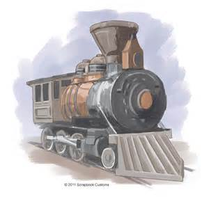 Old Train Engine Drawings