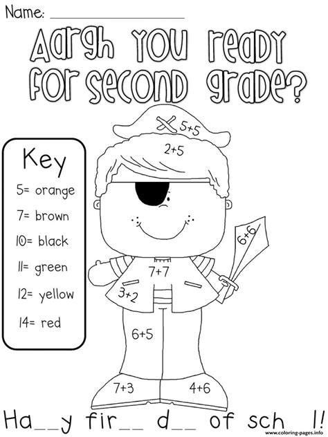 ready   grade coloring pages printable