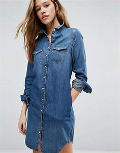 levi39s levis denim western shirt dress shopstylecouk women With robe en jean levis