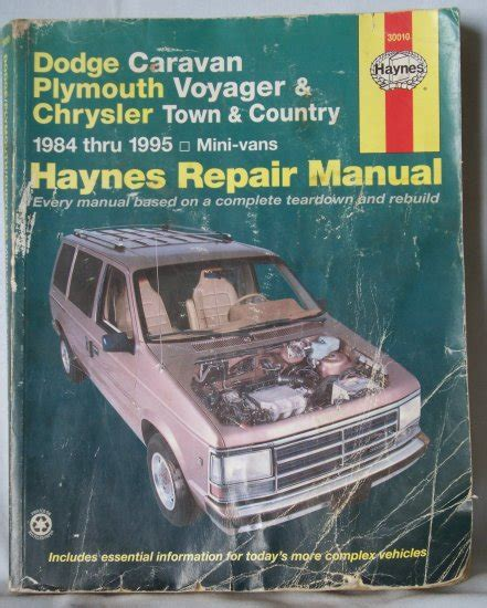 free car repair manuals 1992 plymouth voyager instrument cluster haynes dodge caravan plymouth voyager chrysler town country 1984 1995 repair manual