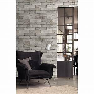 Décolleuse De Papier Peint : papier peint intiss brique gris clair leroy merlin ~ Dailycaller-alerts.com Idées de Décoration