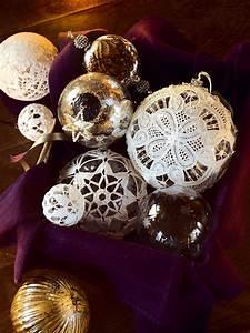 Boule Noel Transparente : des boules de no l en dentelle marie claire ~ Melissatoandfro.com Idées de Décoration