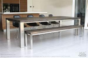 the family table by macwood the family focused With stainless steel and wood dining table