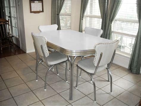 vintage retro  white kitchen  dining room table