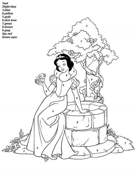 Disney Color By Numbers Coloring Pages Coloring Home
