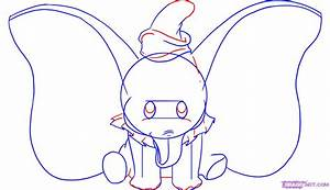 How to Draw Dumbo, Step by Step, Disney Characters ...