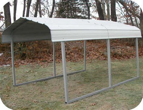 Small Carport Kit by Rhino Shelters 7x10x6 Steel Auto Carport Kit St071006h