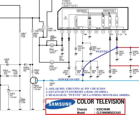 tv samsung modelo cl21m40mq no arranca televisores de