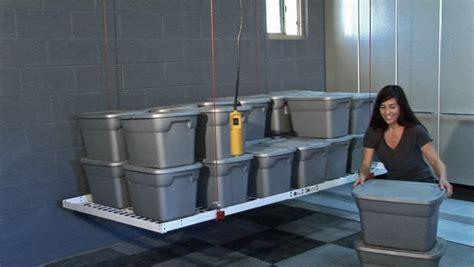 motorized ceiling storage  global garage flooring