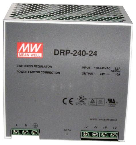 DRP-240-24 - MEAN WELL - AC/DC DIN Rail Power Supply (PSU ...