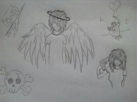 emo engel meine zeichnungen zeichnungen und kunst