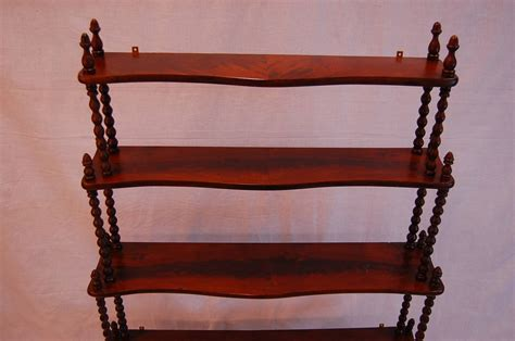 Mahogany Five Tier Wall Mount Etegere For Sale At 1stdibs