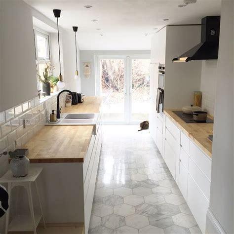 impressive hexagon tiles   kitchen floor