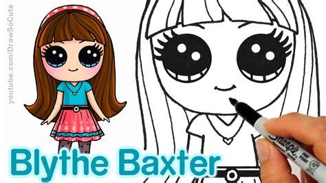 draw blythe baxter step  step cute  easy
