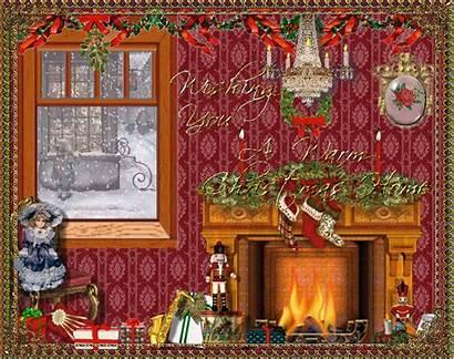 Christmas Animated Window Graphics Inside Gifs Houses
