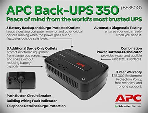 apc back ups 350va ups battery backup surge protector be350g buy in uae aht