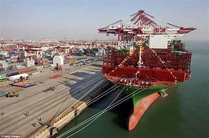 World's largest container ships sets off on maiden voyage ...