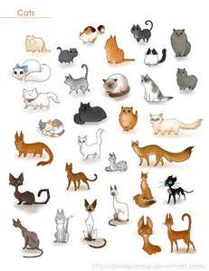 cats characters a ton of cats by zombiesmile on deviantart