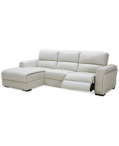 closeout jessi  pc leather sectional sofa  chaise