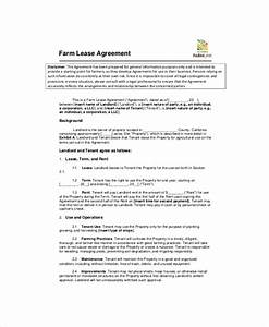 land lease template 7 free word pdf documents download With farm rental agreement template