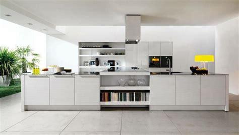 cuisine avec grand ilot central la cuisine blanche dans toute sa splendeur
