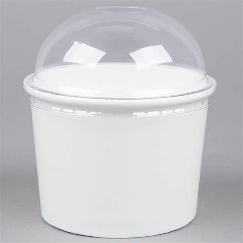 white paper frozen yogurt ice cream bowl  oz