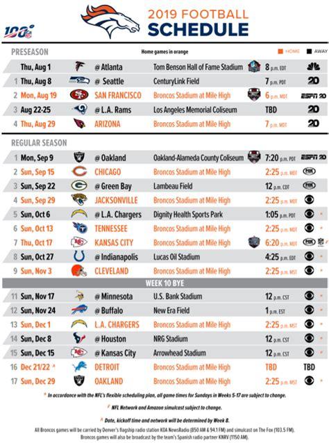 nfl schedule october   schedule