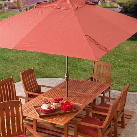 8 x 11 ft rectangle patio umbrella with orange