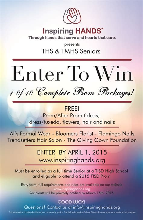 Enter To Win A Free Prom Package!  Inspiring Hands