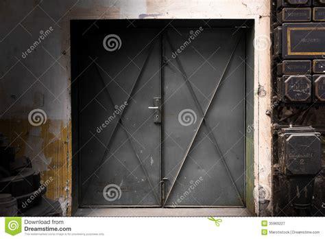 industrial metal gate stock image image  door