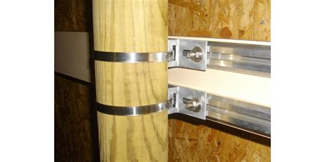 poteau bois 15x15 kit de fixation avec poteau bois 1 signe