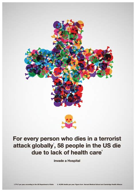 Infographic: Lack of Health Care vs. Terrorism, Which ...