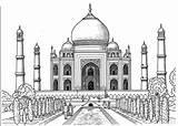 Coloring Mahal Taj Smart Pages Printable Adult Popsugar sketch template
