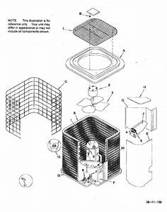 Condensing Unit Diagram  U0026 Parts List For Model Hac448aka1 Icp