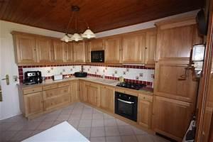 Meuble Cuisine Bois Naturel : cuisine bois chene le bois chez vous ~ Premium-room.com Idées de Décoration