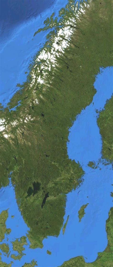 Ģeogrāfiskā karte - Zviedrija - 568 x 1,343 Pikselis - 400 ...