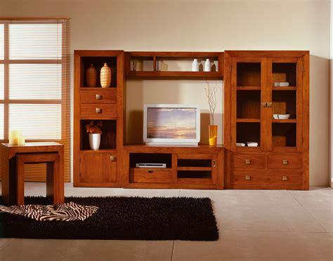 meuble tv teck  niche  tiroir   porte sunkai
