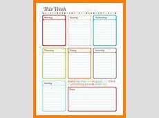 weekly planner template weekly planner template pdf 4