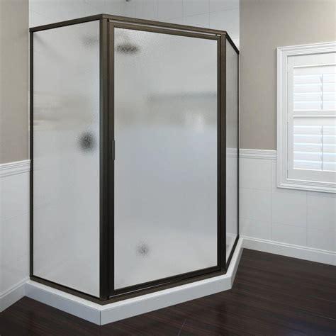 basco shower door basco deluxe 27 1 2 in x 67 5 8 in framed neo angle