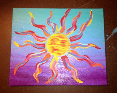 Acrylic - Abstract Sun Painting   Art   Pinterest