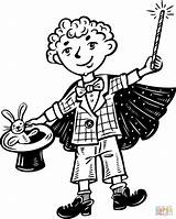 Coloring Magic Magician Pages Clipart Kid Little Printable Cartoon Print Supercoloring Clip Drawing Games Popular Preview Coloring2print sketch template