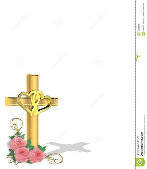 wedding invitation christian cross stock image image